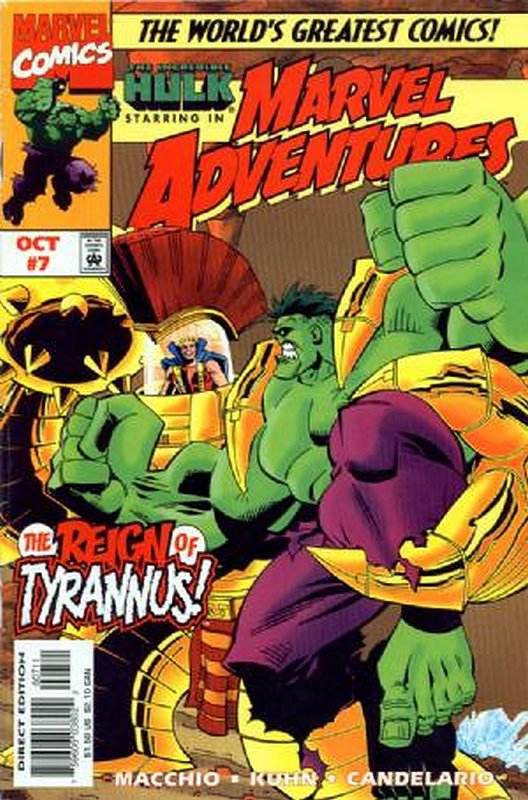 Cover of Marvel Adventures (Vol 1) #7. One of 250,000 Vintage American Comics on sale from Krypton!