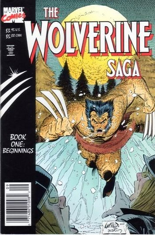 Cover of Wolverine: Saga (1989 Ltd) #1. One of 250,000 Vintage American Comics on sale from Krypton!