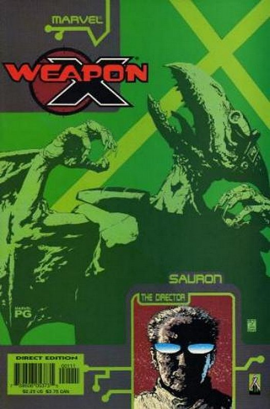 Cover of Weapon X: The Draft - Sauron (2002 One Shot) #1. One of 250,000 Vintage American Comics on sale from Krypton!