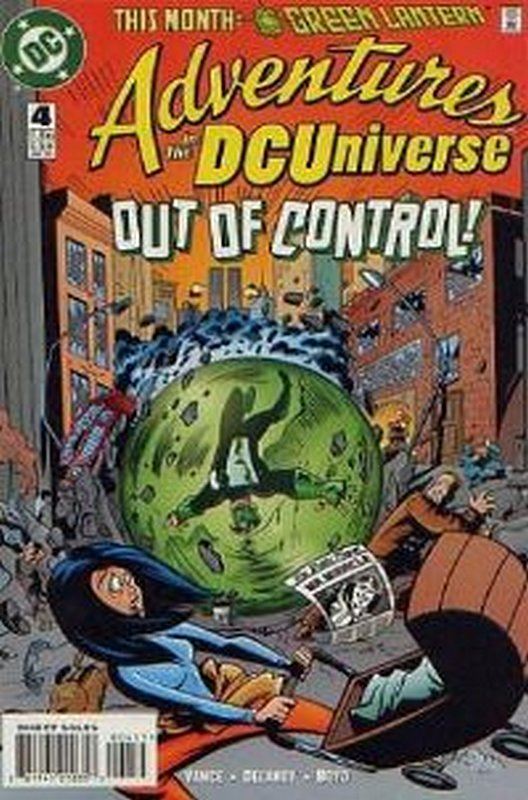 Cover of Adventures in the DC Universe (Vol 1) #4. One of 250,000 Vintage American Comics on sale from Krypton!
