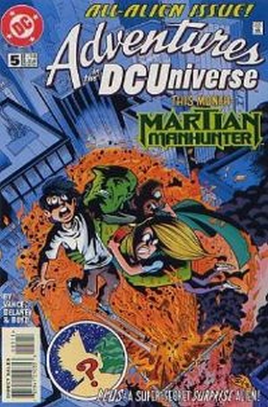 Cover of Adventures in the DC Universe (Vol 1) #5. One of 250,000 Vintage American Comics on sale from Krypton!