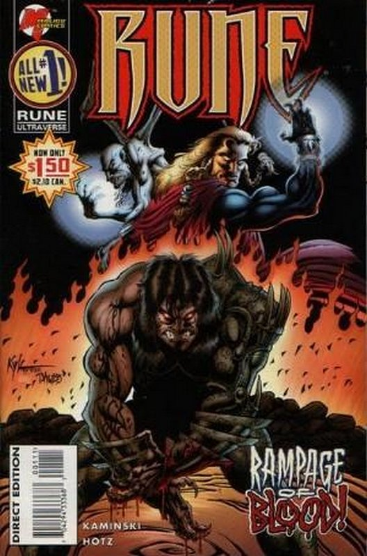 Cover of Rune (Vol 2) #1. One of 250,000 Vintage American Comics on sale from Krypton!