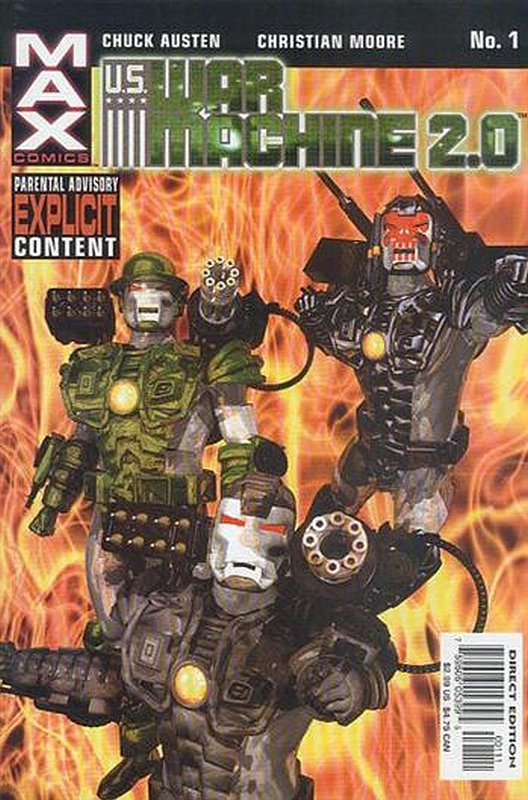 Cover of War Machine 2.0 (2003 Ltd) #1. One of 250,000 Vintage American Comics on sale from Krypton!