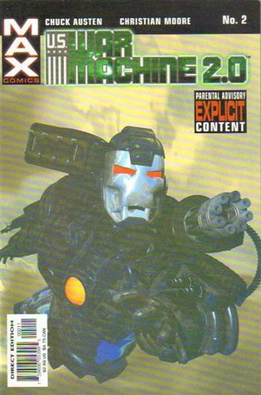 Cover of War Machine 2.0 (2003 Ltd) #2. One of 250,000 Vintage American Comics on sale from Krypton!