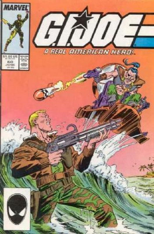 Cover of GI Joe: A Real American Hero #60. One of 250,000 Vintage American Comics on sale from Krypton!