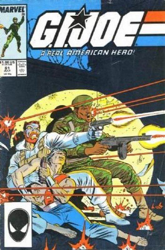 Cover of GI Joe: A Real American Hero #61. One of 250,000 Vintage American Comics on sale from Krypton!