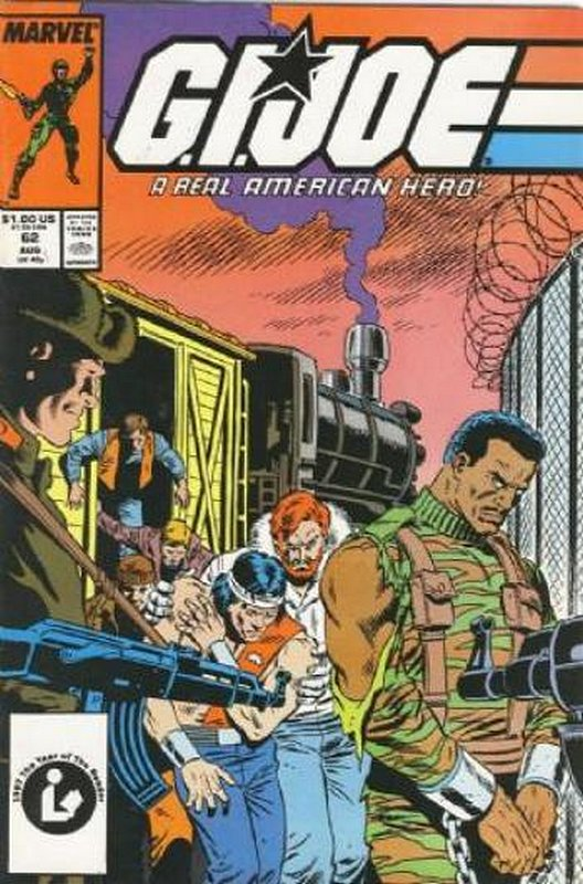 Cover of GI Joe: A Real American Hero #62. One of 250,000 Vintage American Comics on sale from Krypton!