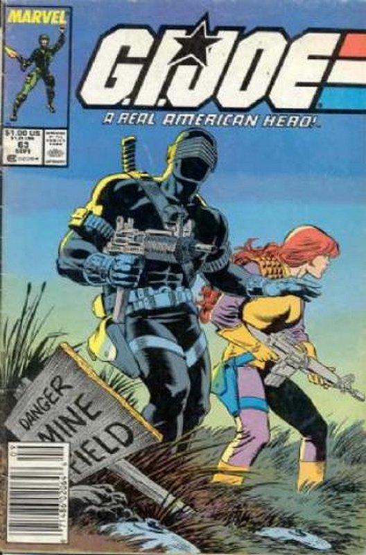 Cover of GI Joe: A Real American Hero #63. One of 250,000 Vintage American Comics on sale from Krypton!
