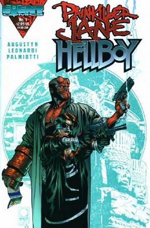 Cover of Painkiller Jane/Hellboy (1998 One Shot) #1. One of 250,000 Vintage American Comics on sale from Krypton!