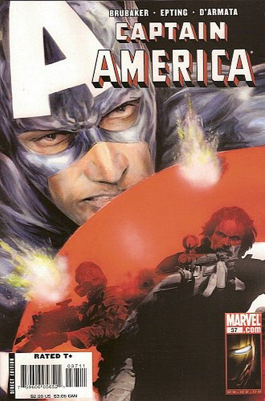 Cover of Captain America (Vol 5) #37. One of 250,000 Vintage American Comics on sale from Krypton!