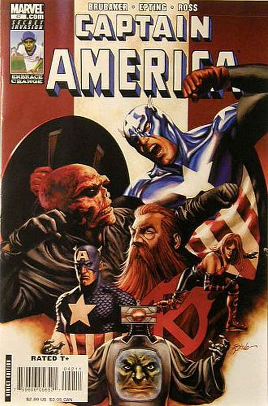 Cover of Captain America (Vol 5) #42. One of 250,000 Vintage American Comics on sale from Krypton!