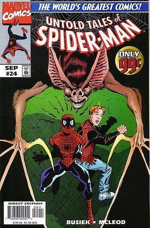 Cover of Untold Tales of Spider-Man (Vol 1) #24. One of 250,000 Vintage American Comics on sale from Krypton!