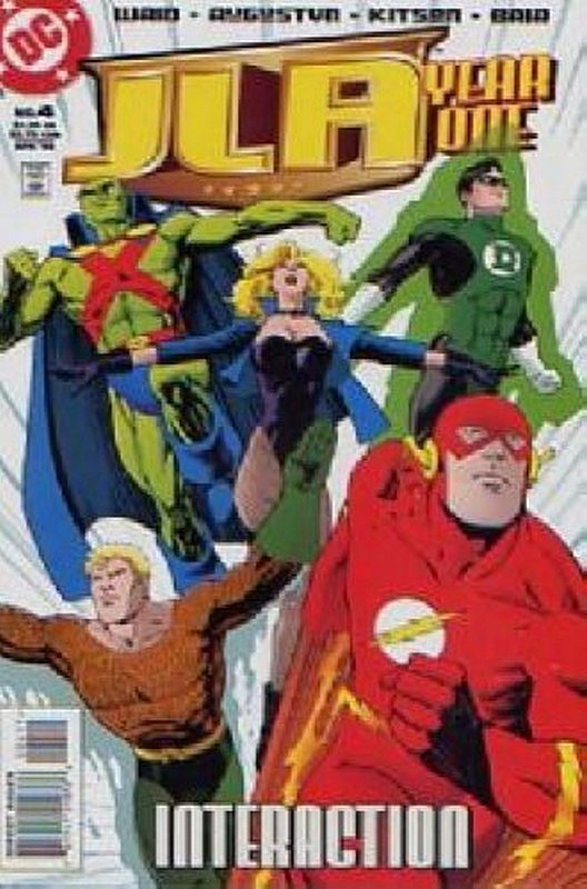 Cover of JLA Year One #4. One of 250,000 Vintage American Comics on sale from Krypton!