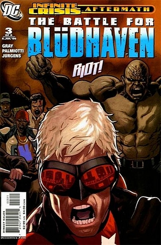 Cover of Infinite Crisis Aftermath: Battle for Bludhaven #3. One of 250,000 Vintage American Comics on sale from Krypton!
