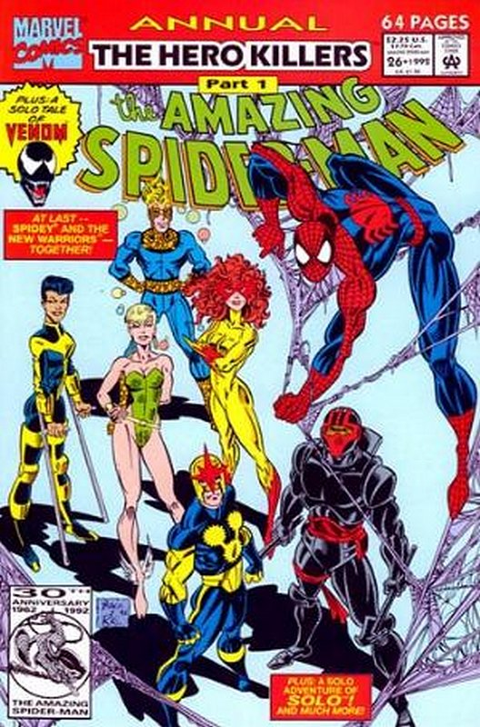 Cover of Amazing Spider-Man Annual (Vol 1) #26. One of 250,000 Vintage American Comics on sale from Krypton!