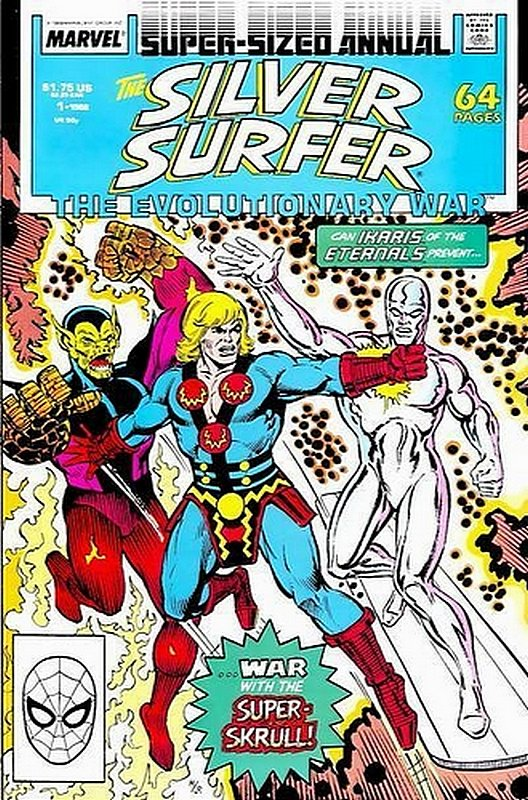 Cover of Silver Surfer Annual #1. One of 250,000 Vintage American Comics on sale from Krypton!