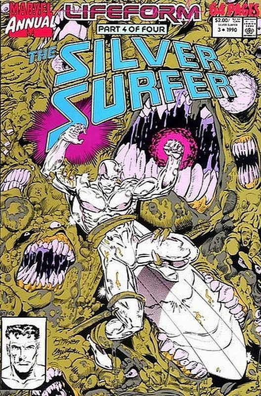 Cover of Silver Surfer Annual #3. One of 250,000 Vintage American Comics on sale from Krypton!