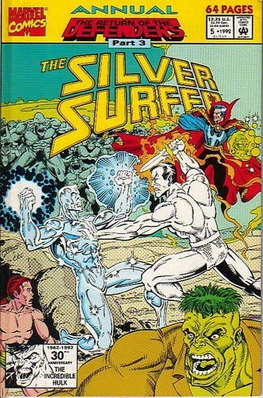 Cover of Silver Surfer Annual #5. One of 250,000 Vintage American Comics on sale from Krypton!