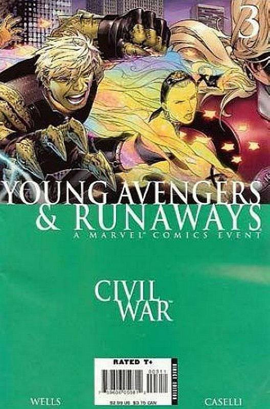 Cover of Civil War: Young Avengers & Runaways #3. One of 250,000 Vintage American Comics on sale from Krypton!