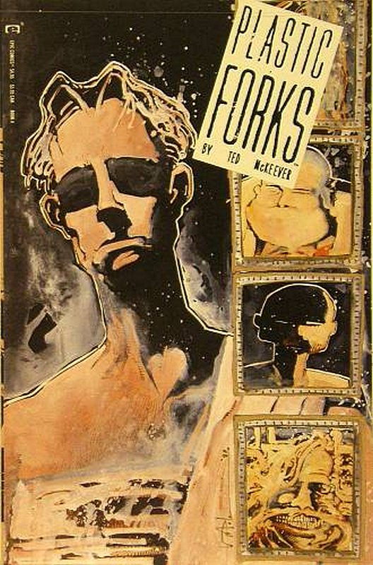 Cover of Plastic Forks (1990 Ltd) #4. One of 250,000 Vintage American Comics on sale from Krypton!