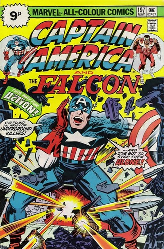 Cover of Captain America (Vol 1) #197. One of 250,000 Vintage American Comics on sale from Krypton!