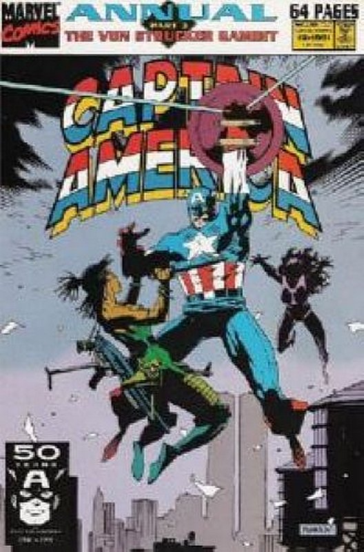 Cover of Captain America Annual #10. One of 250,000 Vintage American Comics on sale from Krypton!