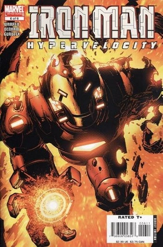 Cover of Iron Man: Hypervelocity #6. One of 250,000 Vintage American Comics on sale from Krypton!