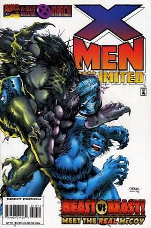 Cover of X-Men Unlimited (Vol 1) #10. One of 250,000 Vintage American Comics on sale from Krypton!