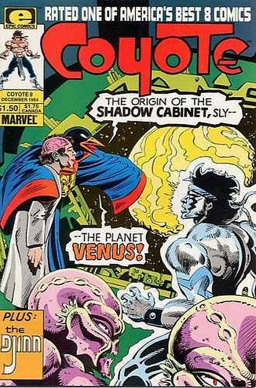 Cover of Coyote (Vol 1) #9. One of 250,000 Vintage American Comics on sale from Krypton!