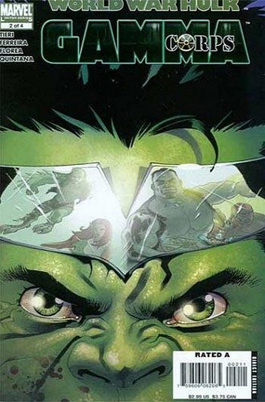 Cover of World War Hulk: Gamma Corps (2007 Ltd) #2. One of 250,000 Vintage American Comics on sale from Krypton!