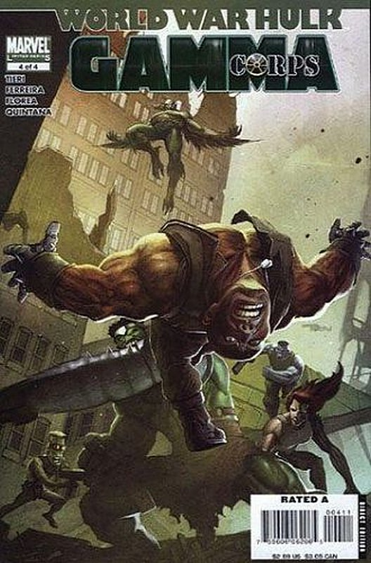 Cover of World War Hulk: Gamma Corps (2007 Ltd) #4. One of 250,000 Vintage American Comics on sale from Krypton!