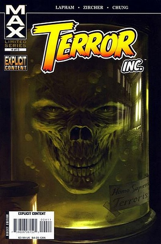 Cover of Terror Inc (2007 Ltd) #4. One of 250,000 Vintage American Comics on sale from Krypton!