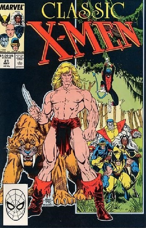 Cover of Classic X-Men #21. One of 250,000 Vintage American Comics on sale from Krypton!