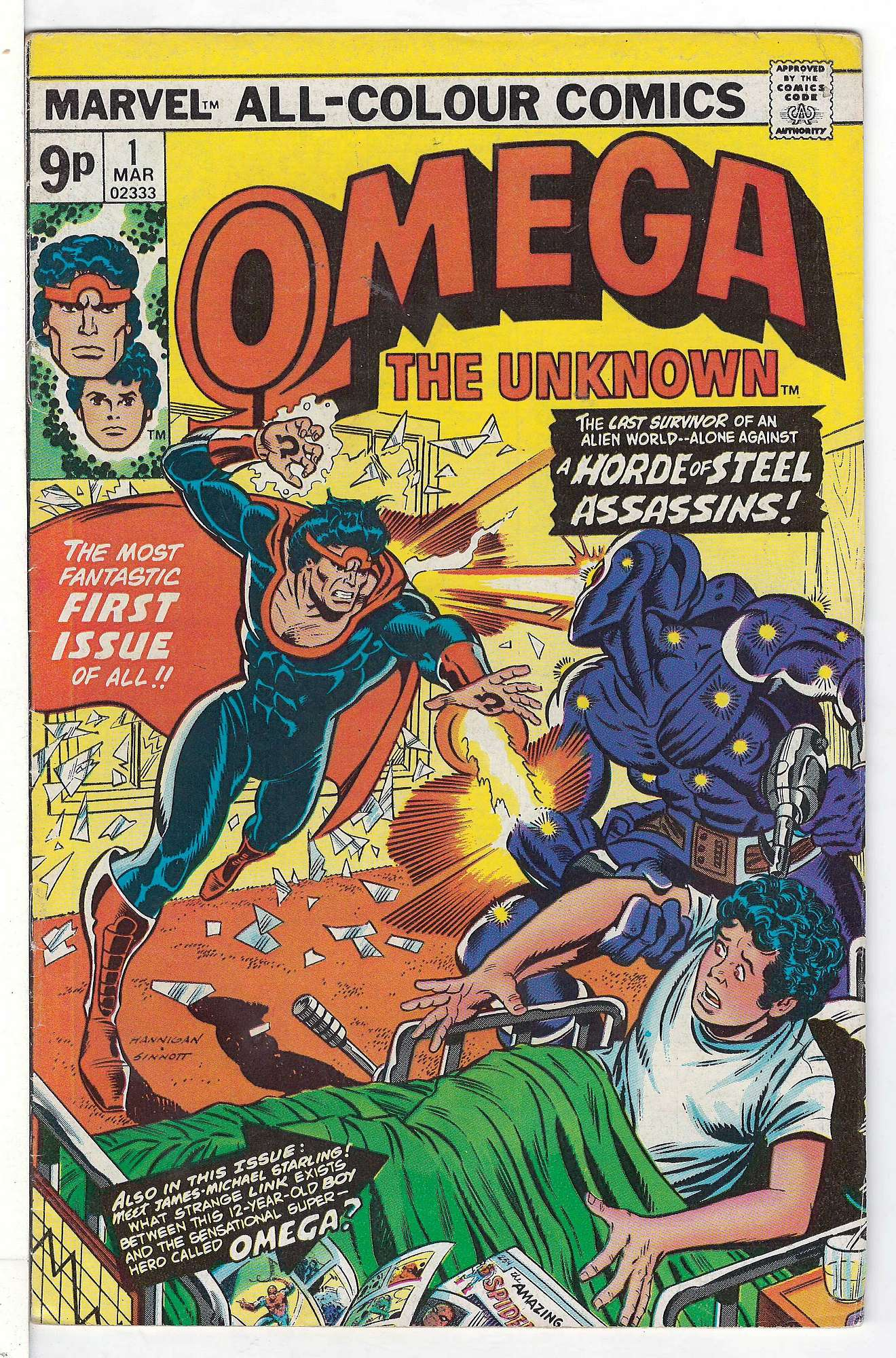 Cover of Omega The Unknown (Vol 1) #1. One of 250,000 Vintage American Comics on sale from Krypton!