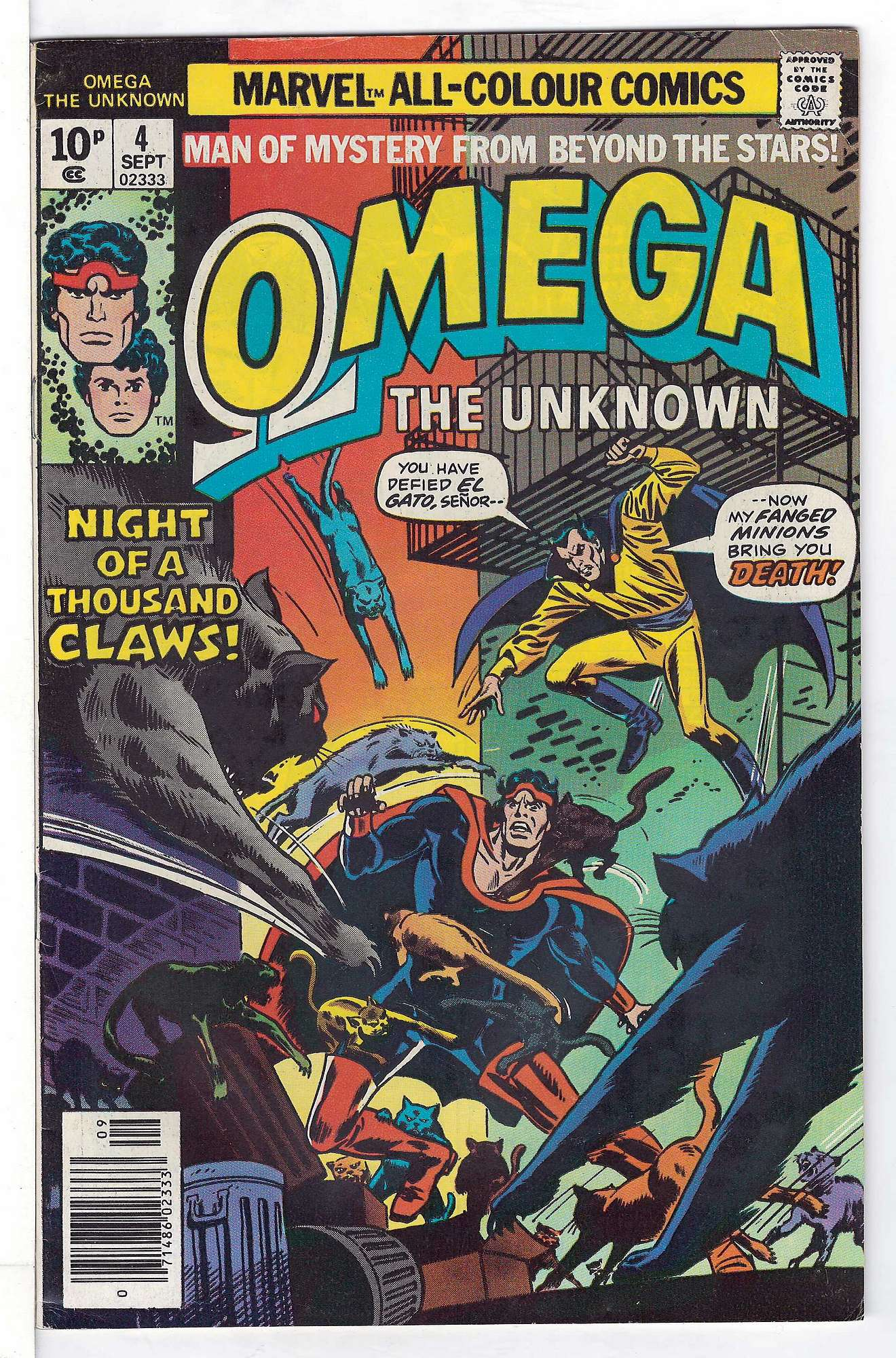 Cover of Omega The Unknown (Vol 1) #4. One of 250,000 Vintage American Comics on sale from Krypton!