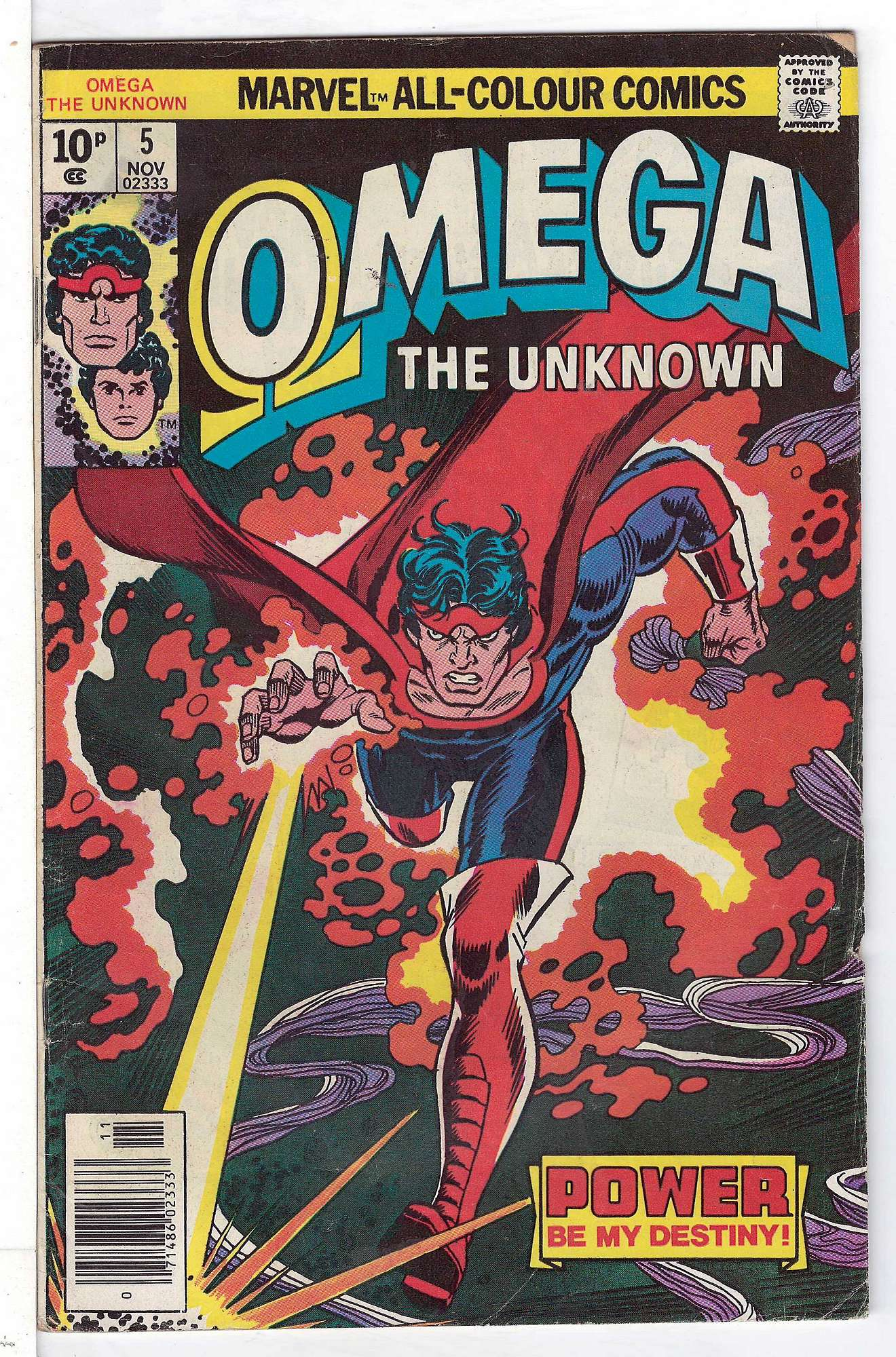 Cover of Omega The Unknown (Vol 1) #5. One of 250,000 Vintage American Comics on sale from Krypton!
