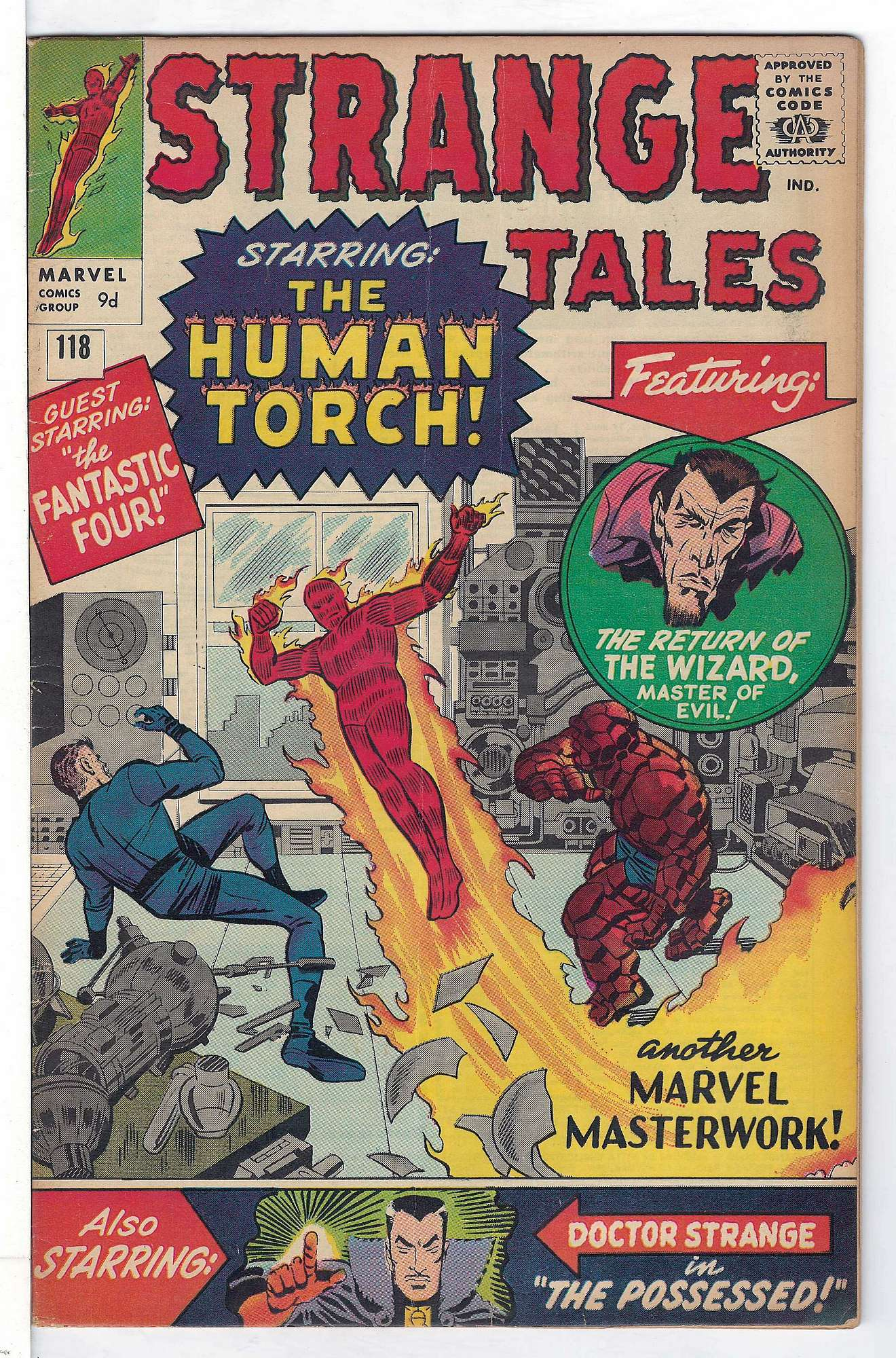 Cover of Strange Tales (Vol 1) #118. One of 250,000 Vintage American Comics on sale from Krypton!