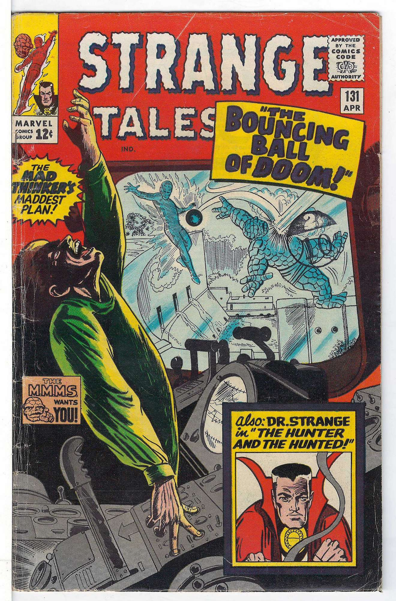 Cover of Strange Tales (Vol 1) #131. One of 250,000 Vintage American Comics on sale from Krypton!