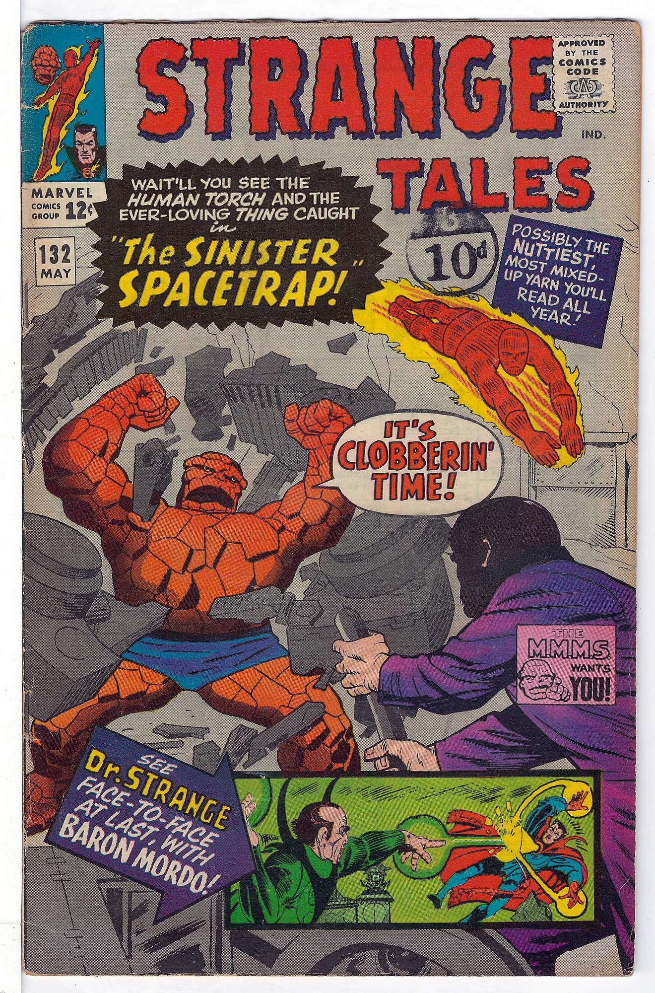 Cover of Strange Tales (Vol 1) #132. One of 250,000 Vintage American Comics on sale from Krypton!