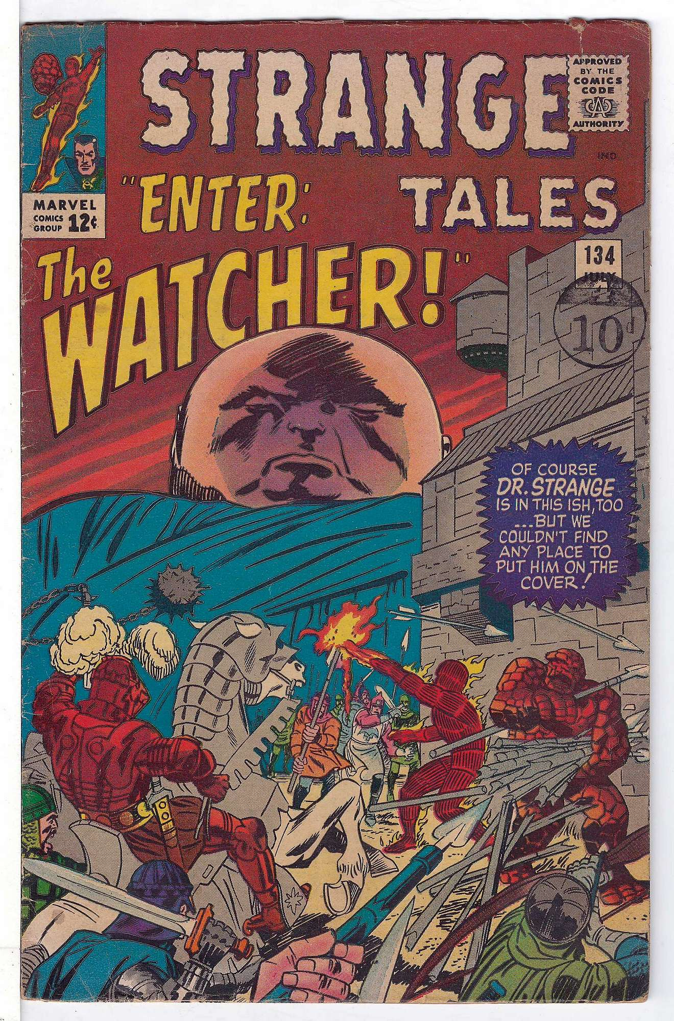 Cover of Strange Tales (Vol 1) #134. One of 250,000 Vintage American Comics on sale from Krypton!