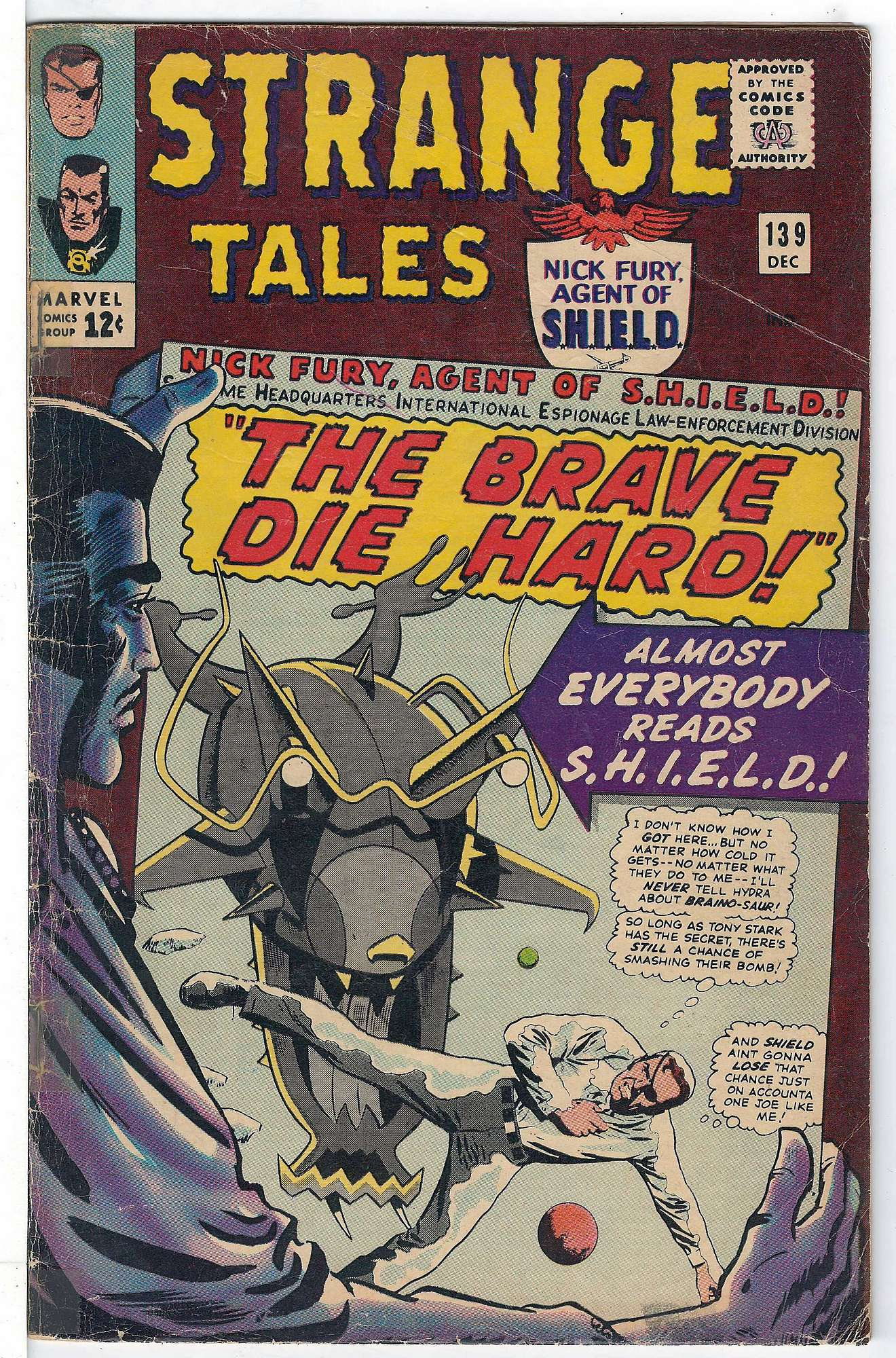 Cover of Strange Tales (Vol 1) #139. One of 250,000 Vintage American Comics on sale from Krypton!