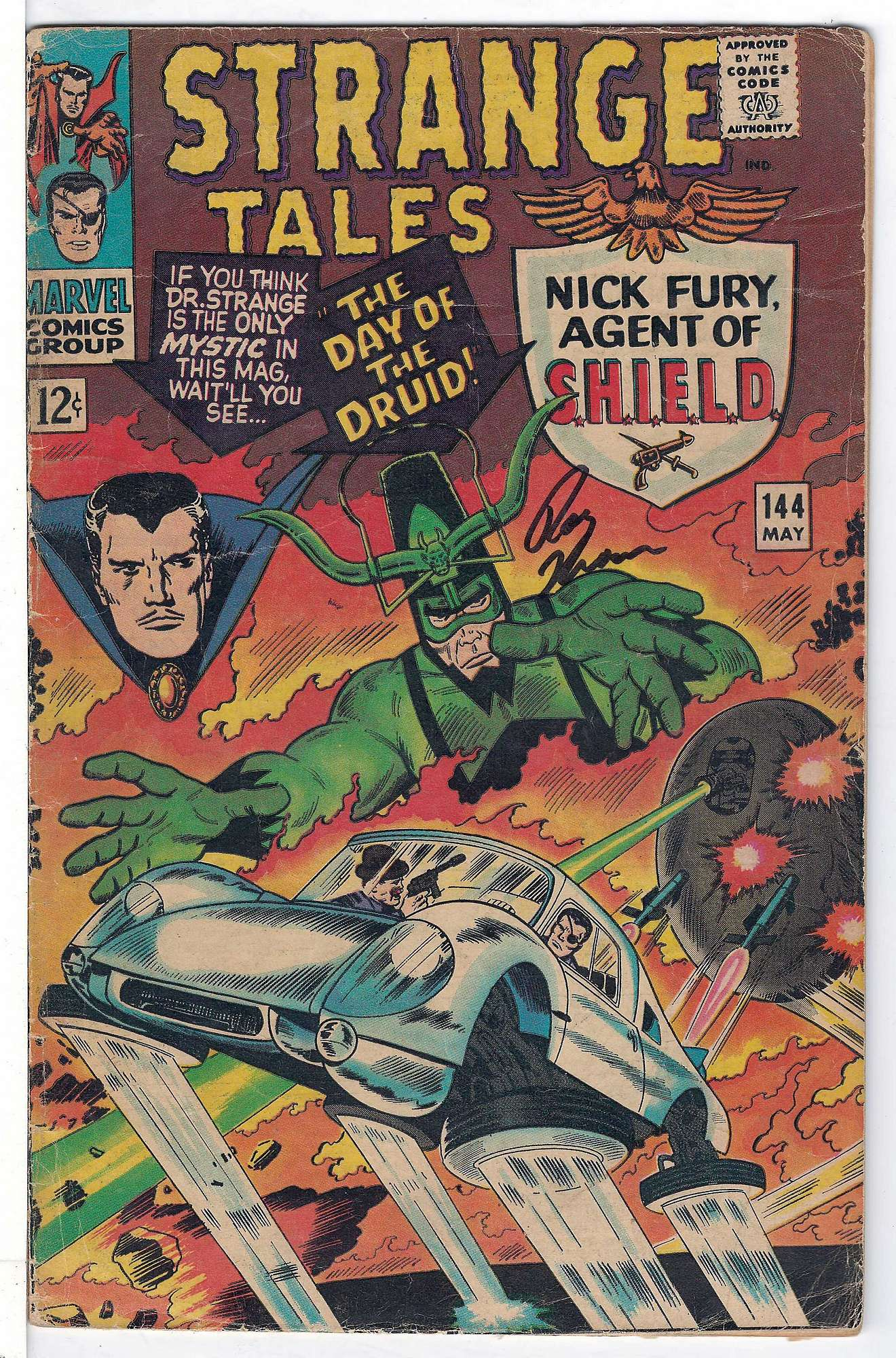 Cover of Strange Tales (Vol 1) #144. One of 250,000 Vintage American Comics on sale from Krypton!