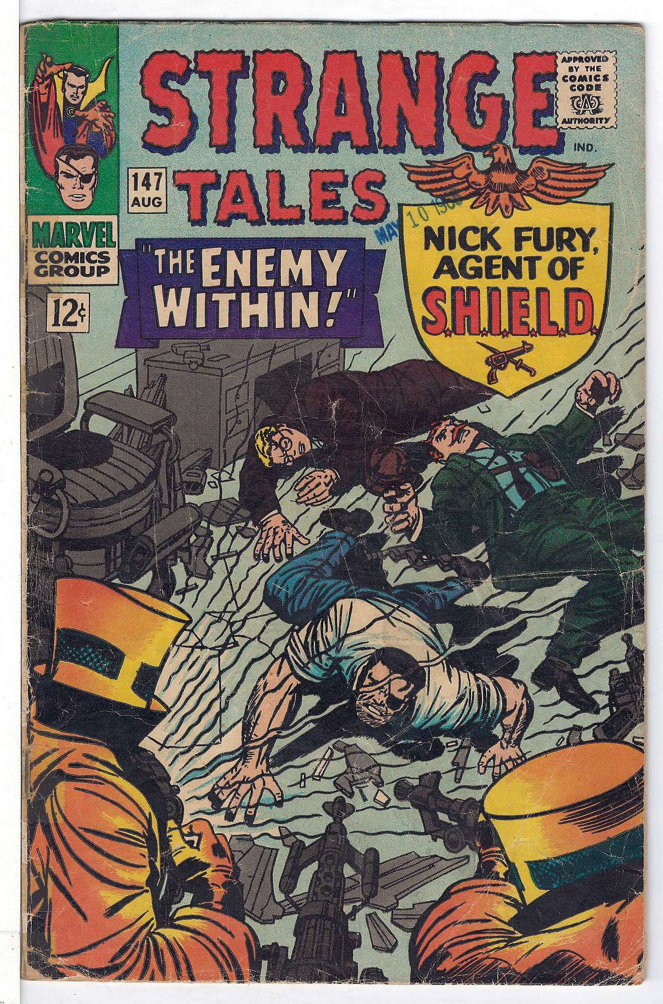 Cover of Strange Tales (Vol 1) #147. One of 250,000 Vintage American Comics on sale from Krypton!
