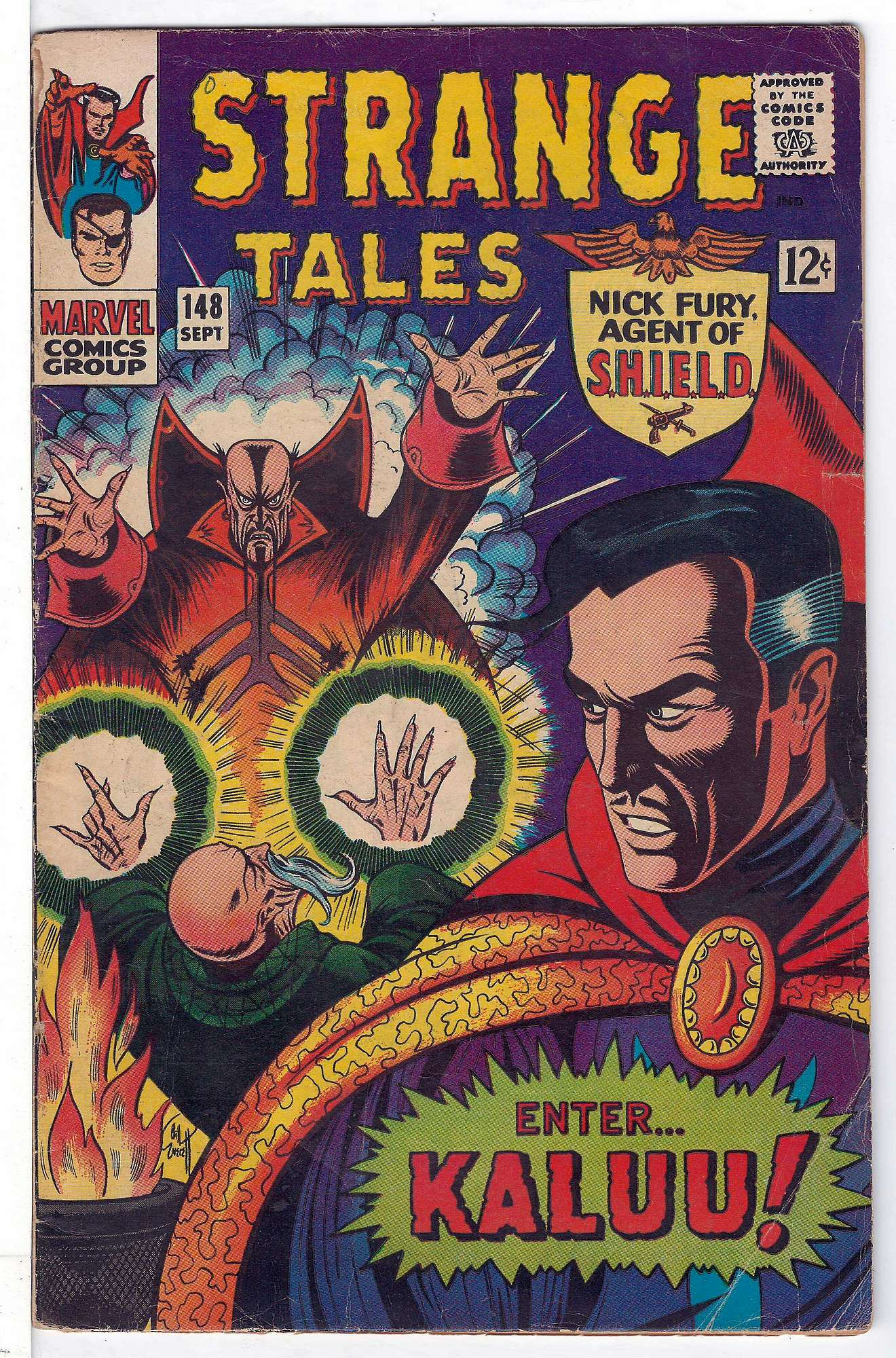 Cover of Strange Tales (Vol 1) #148. One of 250,000 Vintage American Comics on sale from Krypton!