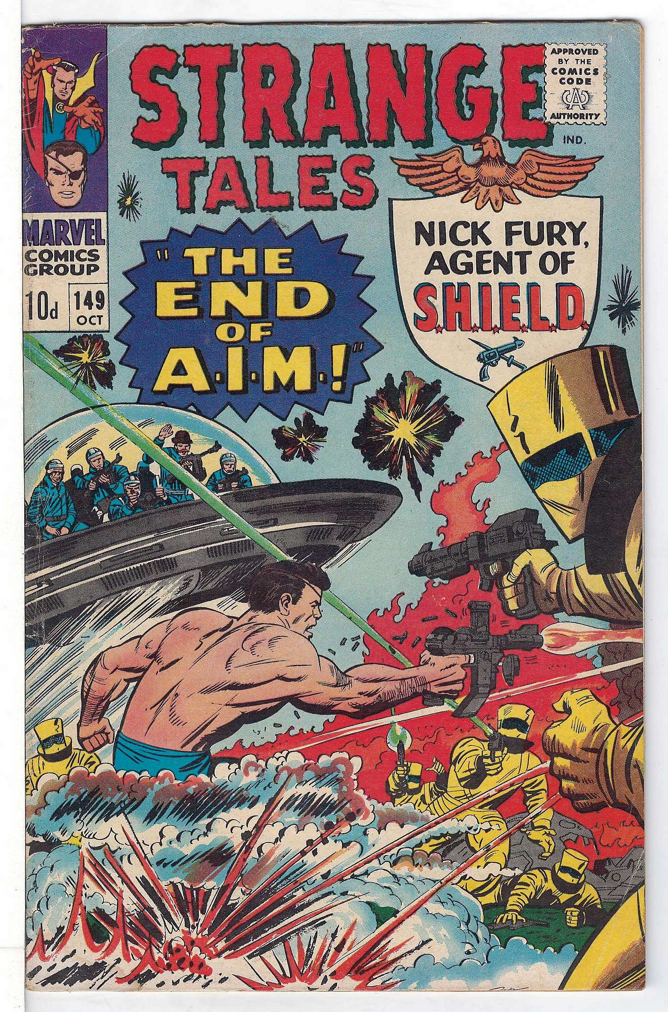 Cover of Strange Tales (Vol 1) #149. One of 250,000 Vintage American Comics on sale from Krypton!