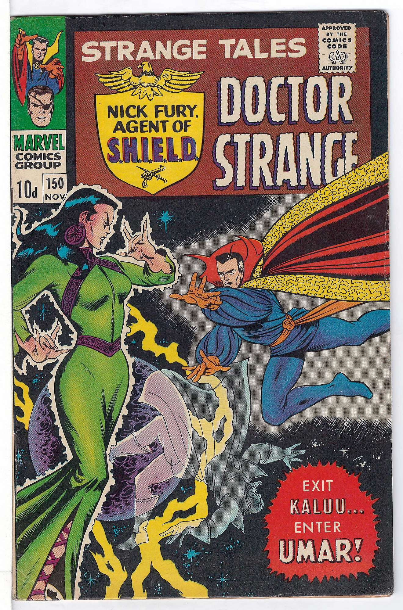 Cover of Strange Tales (Vol 1) #150. One of 250,000 Vintage American Comics on sale from Krypton!