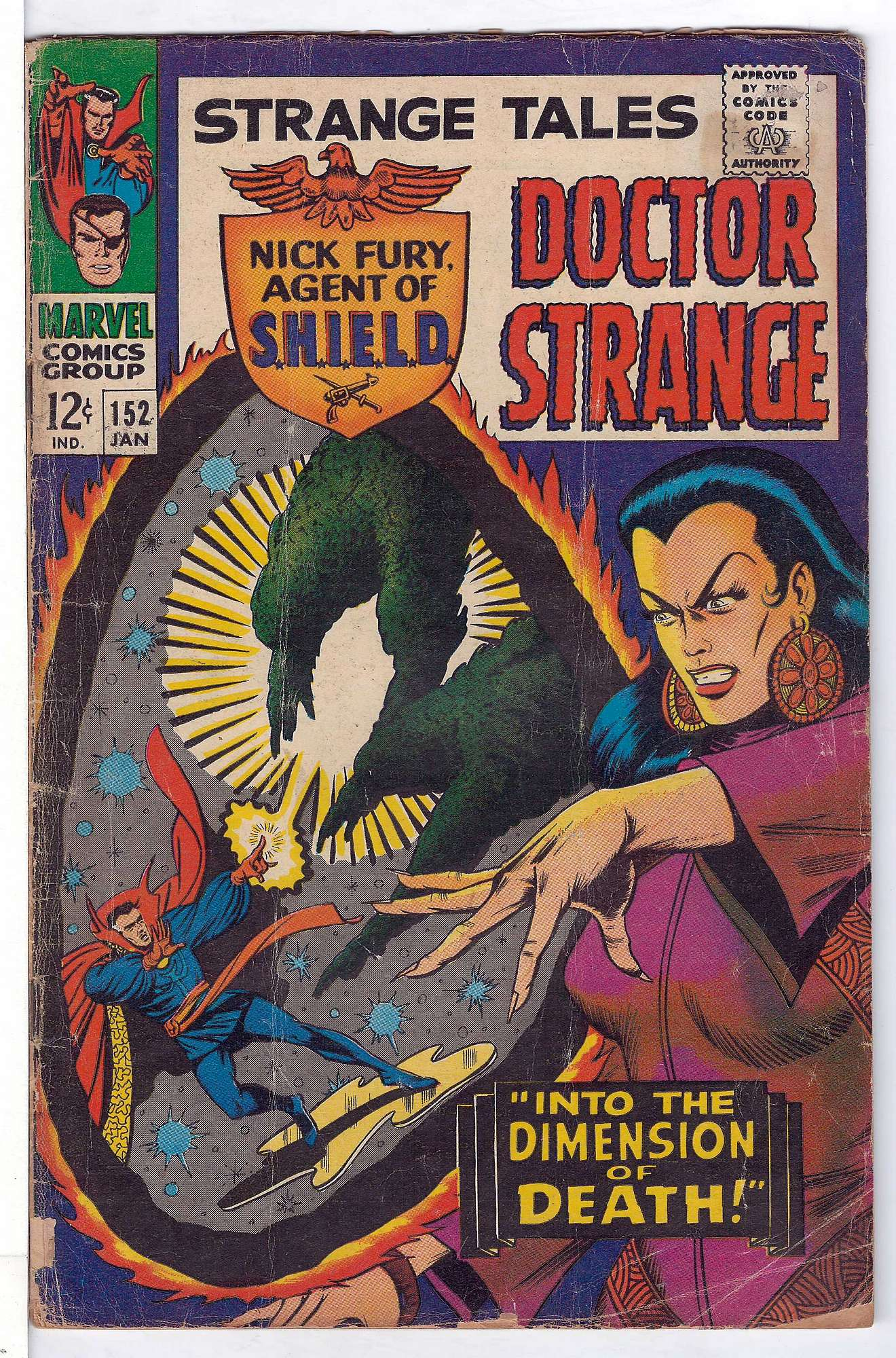 Cover of Strange Tales (Vol 1) #152. One of 250,000 Vintage American Comics on sale from Krypton!