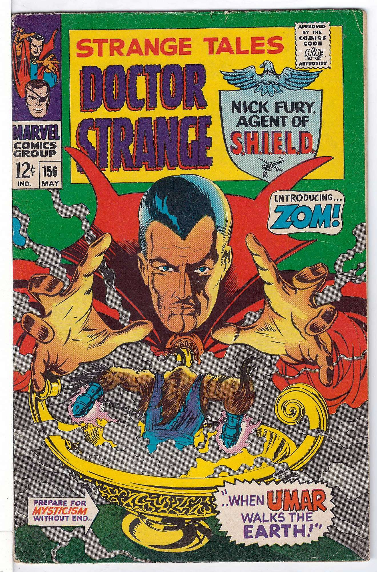 Cover of Strange Tales (Vol 1) #156. One of 250,000 Vintage American Comics on sale from Krypton!