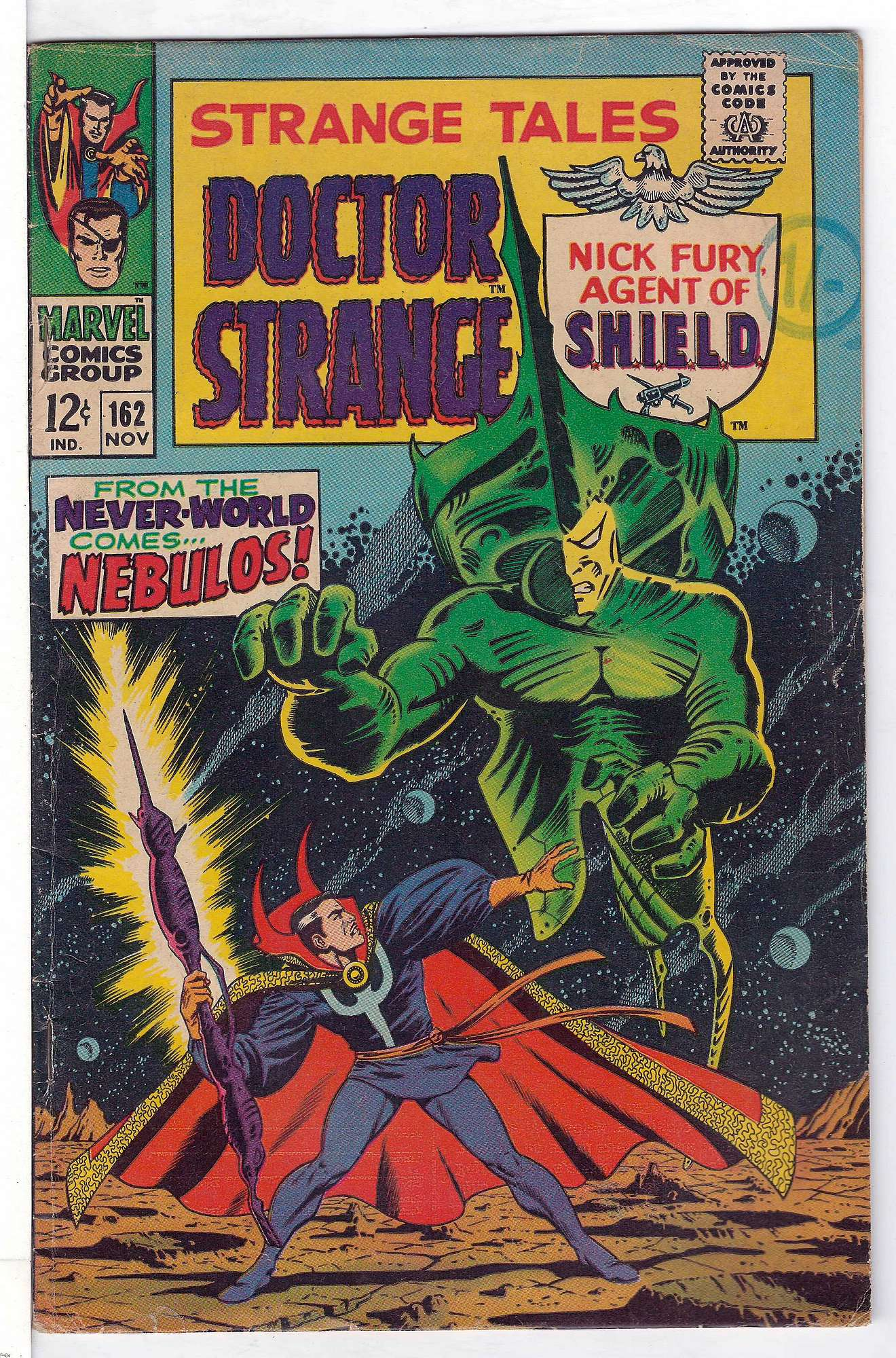Cover of Strange Tales (Vol 1) #162. One of 250,000 Vintage American Comics on sale from Krypton!