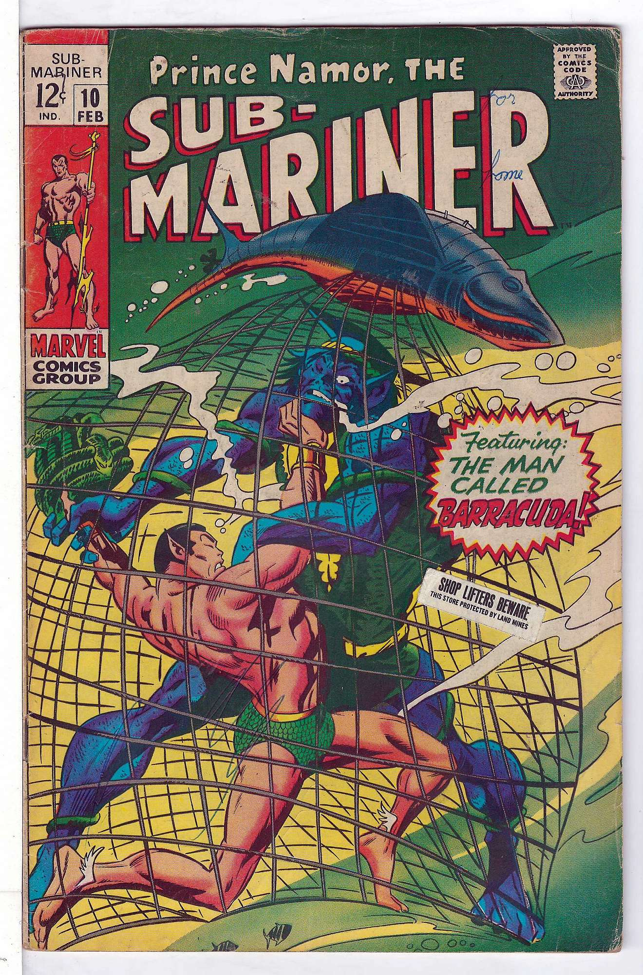 Cover of Sub-Mariner (Vol 1) #10. One of 250,000 Vintage American Comics on sale from Krypton!